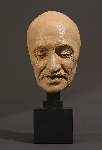 MASK OF MAHATMA GANDHI, 1931 Terra cotta on wood b...