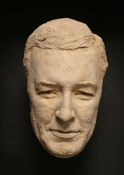 MASK OF H.P. WHITNEY Terra-cotta 9 5/8 x 5 7/8 x 3...