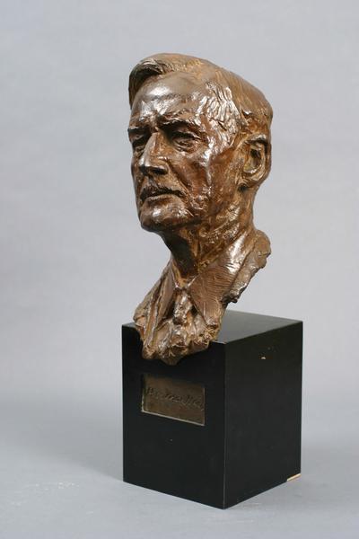 HERMON ATKINS MACNEIL, 1945 Bronze on wood base wi...