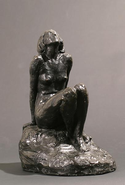 REGARD, 1909 Bronze 13 1/4 x 8 x 10 1/2 inches Sig...