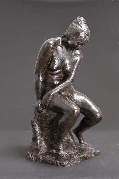 SEATED FEMALE NUDE (also FRANCE 1939), 1939 Bronze...