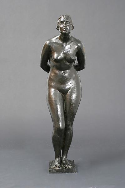 STANDING FEMALE NUDE, 1934 Bronze 31 x 9 x 12 inch...