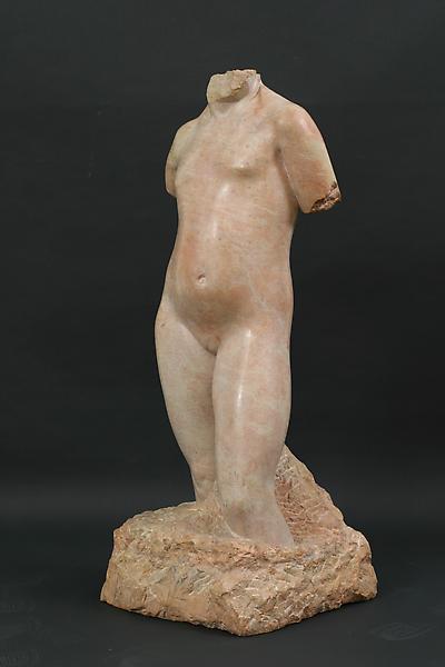 TORSO OF A YOUNG GIRL, 1932 Burgundy limestone 36...