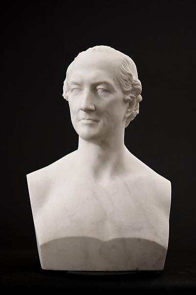 PORTRAIT OF THEODORE LYMAN, 1871 Marble 23 x 16 x...
