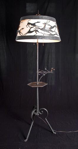 HUNTING SCENE FLOOR LAMP
