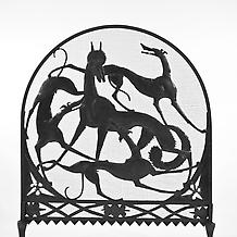 WOLF AND HOUNDS FIRE SCREEN