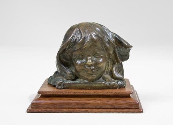 ANNE HART, 1920 Bronze 2 1/2 x 3 1/2 x 2 1/4 inche...