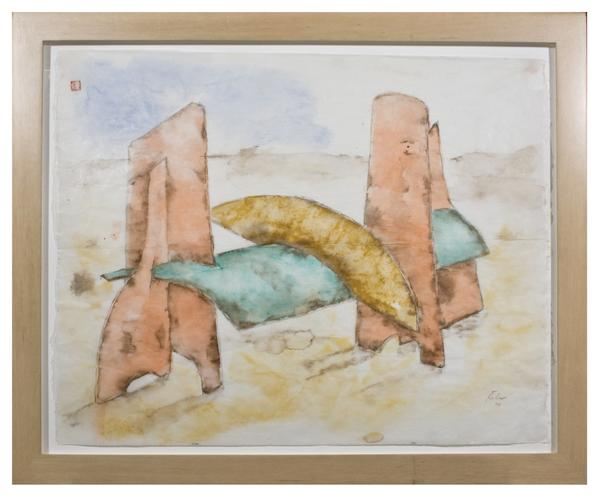 STUDY FOR WILLIAMS V, 1977 Watercolor 19 1/2 x 24...