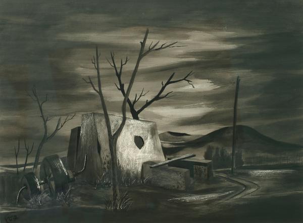 LANDSCAPE #2: PROVINCETOWN, MASSACHUSETTS, c. 1938...