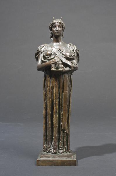 ARCHITECTURE, 1897 Bronze 12 1/2 x 3 1/4 x 2 5/8 i...