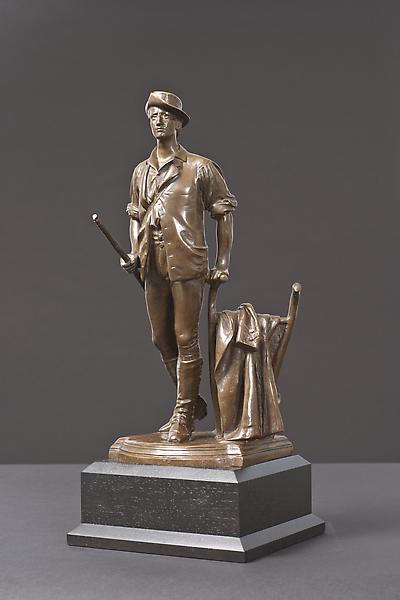 THE CONCORD MINUTE MAN , 1875 Bronze on custom woo...