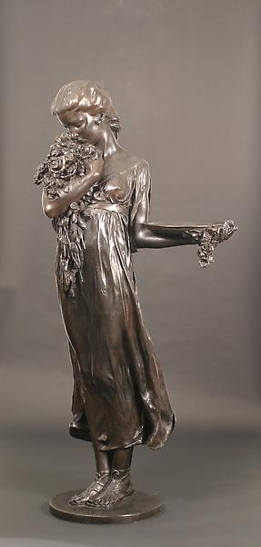 ROSES OF YESTERDAY: A BIRDBATH, 1923 Bronze 65 x 3...