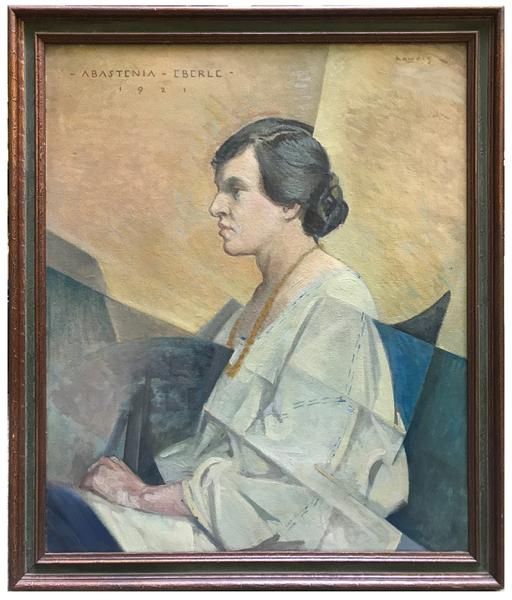 ABASTENIA EBERLE, 1921 Oil on board 30 x 25 inches...