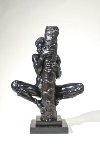 SOLOMON ISLANDER CLIMBING A PALM TREE, 1934 Bronze...
