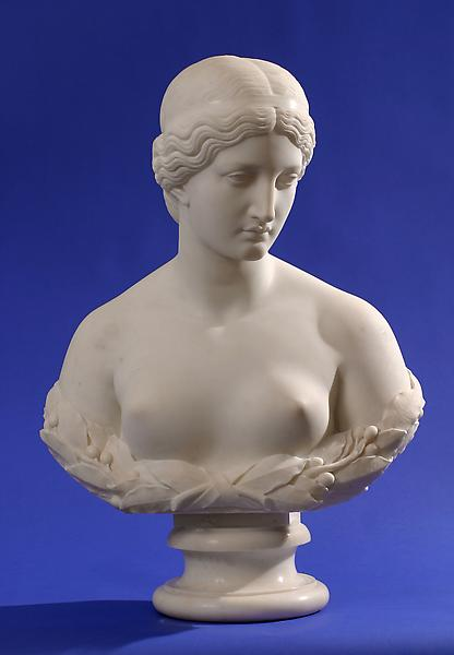 DAPHNE, c. 1853 Marble 28 1/4 x 19 5/8 x 11 1/2 in...