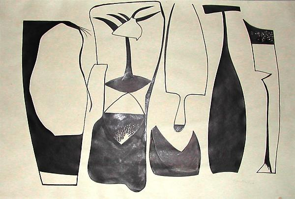 UNTITLED, 1946 Ink 15 x 22 inches Signed: C.H.H. /...