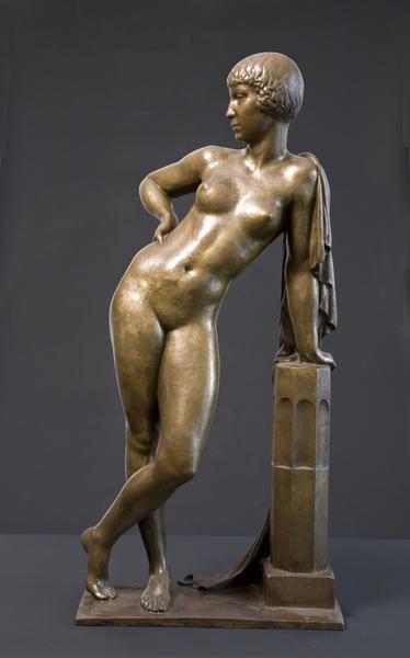 LEANING FIGURE, 1923 Bronze 30 1/4 x 14 5/8 x 10 1...