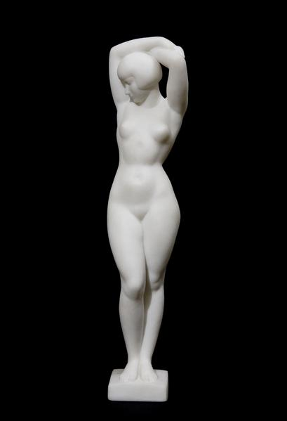 LUCY KROHG, Modeled c. 1920, this example carved c...