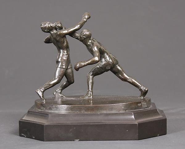 RIGHT CROSS, c.1934-36 Bronze on original octagona...