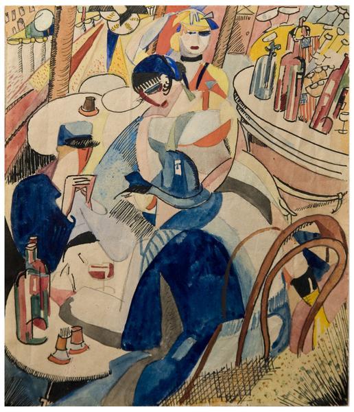 SCÉNE DE CAFÉ A MONTPARNASSE, 1915-1...