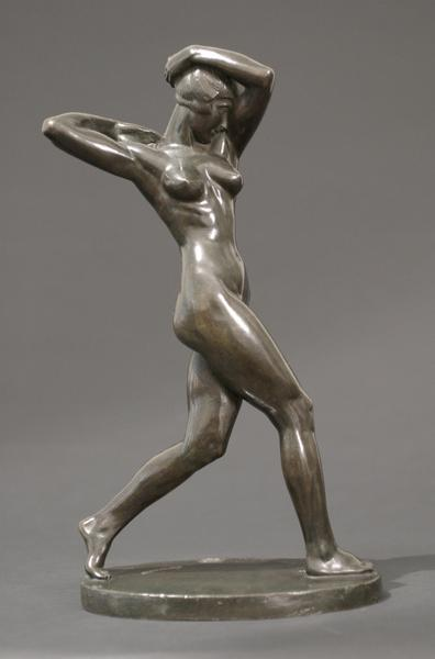THE DANCE, 1922 Bronze 13 5/8 x 7 7/8 x 4 1/2 inch...