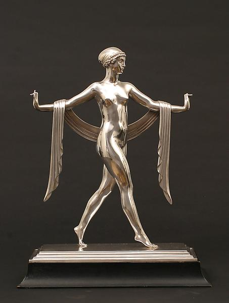 GREEK DANCE, 1926 Silvered bronze on original ebon...