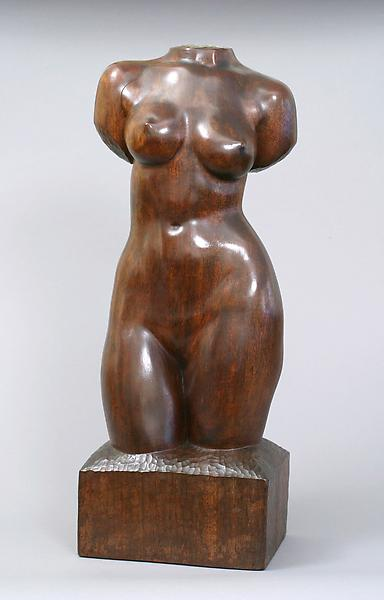 FEMALE TORSO, Originally modeled in 1932, this exa...