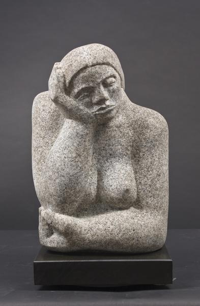 ETERNITY, 1936 Barre granite on wood base 16 1/2 x...