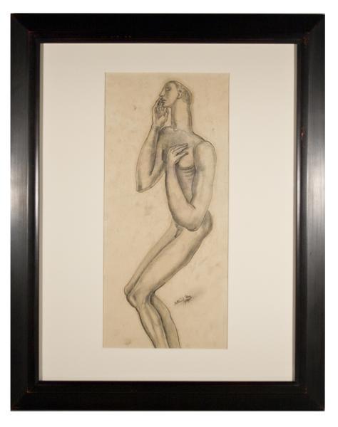 MALE FIGURE, 1937 Graphite 16 1/4 x 8 1/8 inches S...