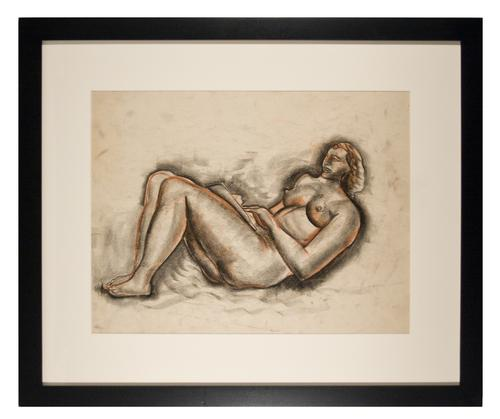RECLINING NUDE: READING