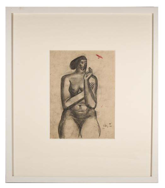 NUDE WITH RAISED HAND, 1936 Graphite 11 x 8 1/2 in...