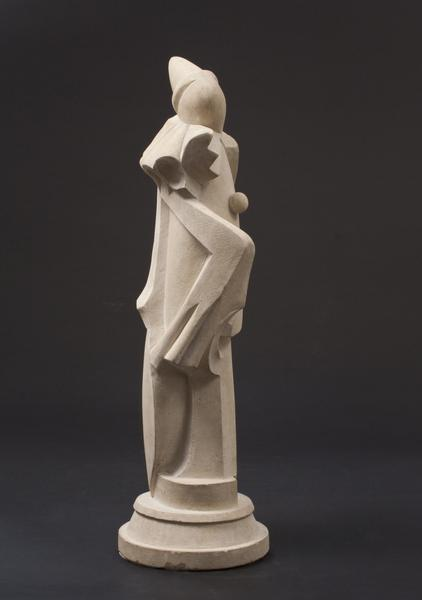 HARLEQUIN (CLOWN), 1925 Limestone 21 x 7 x 6 inche...