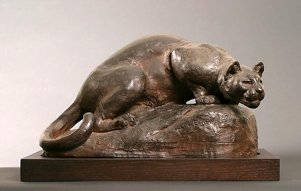 THE STILL HUNT, 1883 Terra cotta 10 7/8 x 19 1/4 x...