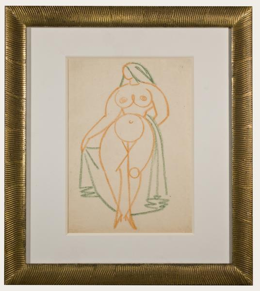 Gaston Lachaise (American, 1882-1935) NUDE WITH VE...