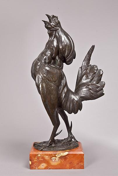 CHANTICLEER, 1912 Bronze on original marble base 1...