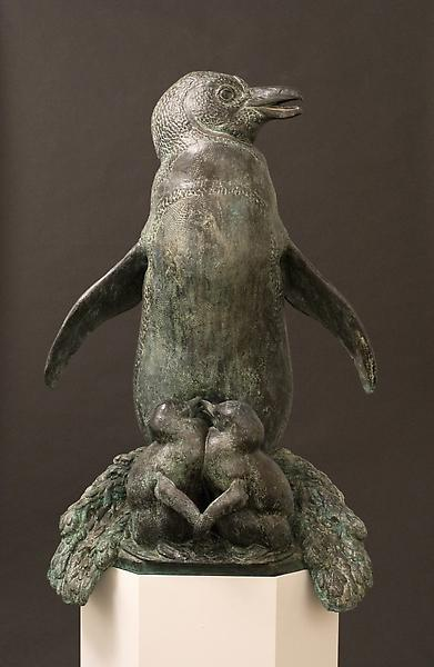 PENGUIN FOUNTAIN, 1926 Bronze 39 3/4 x 24 1/2 x 16...
