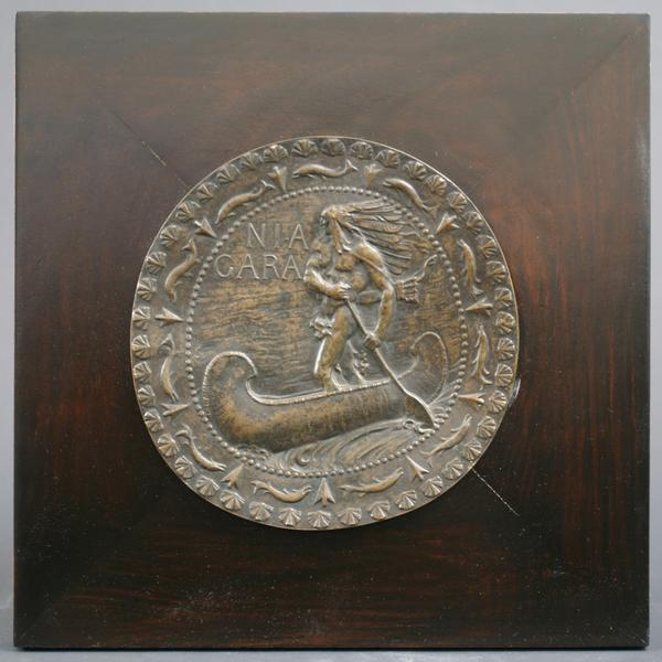 NIAGARA, 1892 Bronze bas-relief plaque mounted on...