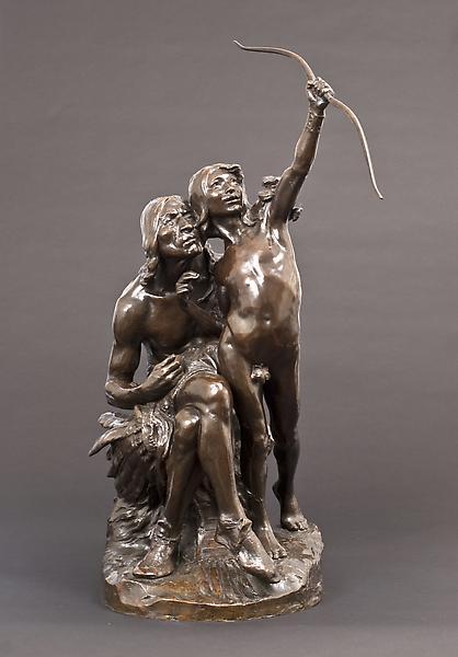 SUN VOW, modeled c. 1899 Bronze 36 x 15 3/4 x 24 i...