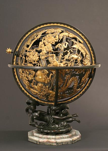 CELESTIAL SPHERE, 1934 Bronze with gilding on orig...