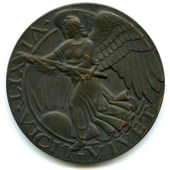 DETROIT SOLDIERS MEMORIAL MEDAL, 1919 Bronze 2 3/4...