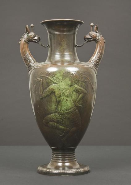 ORIENTAL DANCER VASE , 1913 Bronze 14 3/4 X 8 1/2...