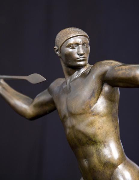 SPEAR THROWER, 1921 Bronze 20 x 28 3/4 x 7 5/8 inc...