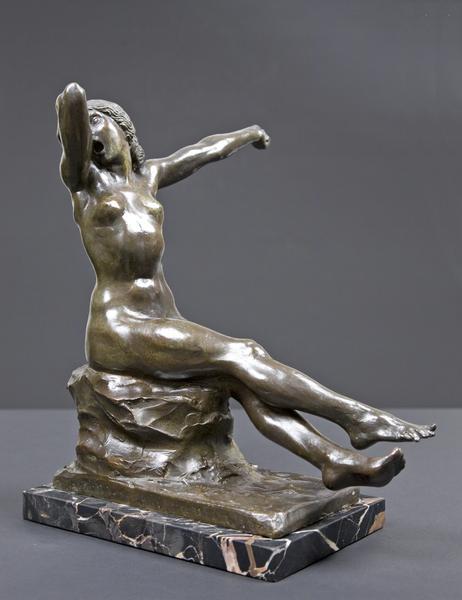 SPRING AWAKENING (also YAWNING), 1912 Bronze on ma...