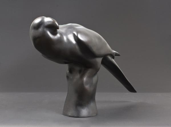 CAROLINA PARAKEET, 2009 Bronze 14 1/2 x 9 x 22 inc...
