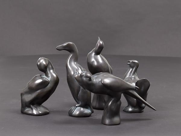LOST BIRDS, Set of Five Bronze, edition: 3/15 Mark...