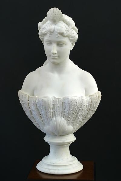 VENEZIA, 1865-66 Marble Signed: Larkin G. Mead (si...