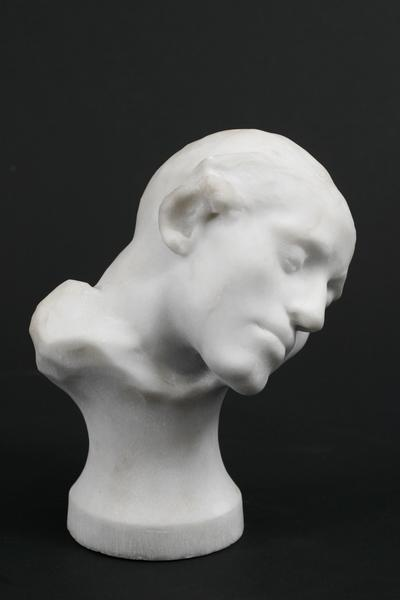 STUDY FOR ADAM, c. 1910 Marble 7 1/2 x 5 1/2 x 4 1...