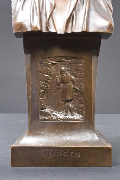 IMOGEN, 1874 Bronze 16 7/8 x 6 1/4 x 5 3/8 inches...