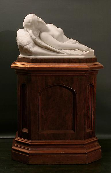 SLEEPING PERI, 1856 Marble on original base 14 1/2...