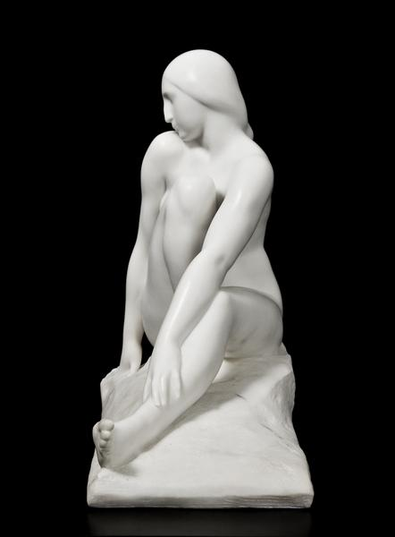 SEATED NUDE (also YOUNG VIRGIN), 1920 Marble 27 x...